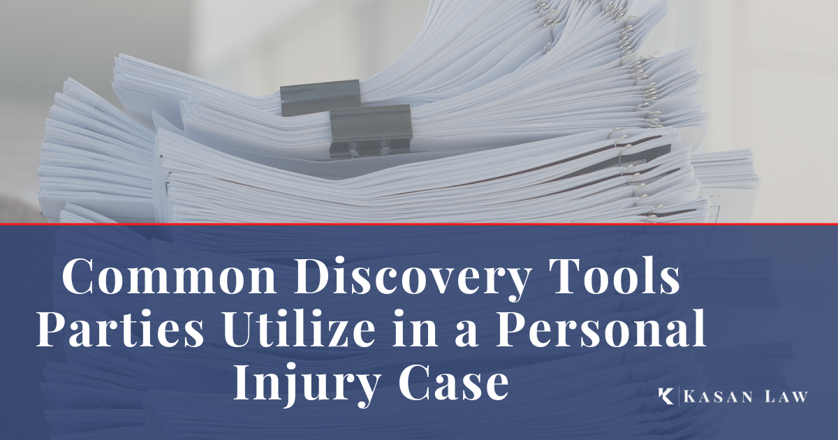 Common Discovery Tools Parties Utilize in a Personal Injury Case
